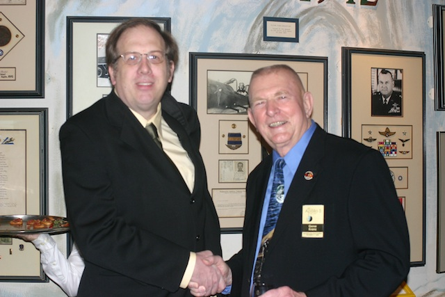NASA Flight Director Gene Kranz and me in December 2008